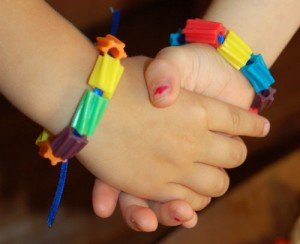 Use your extra Halloween candy to make Twizzlers candy bracelets.
