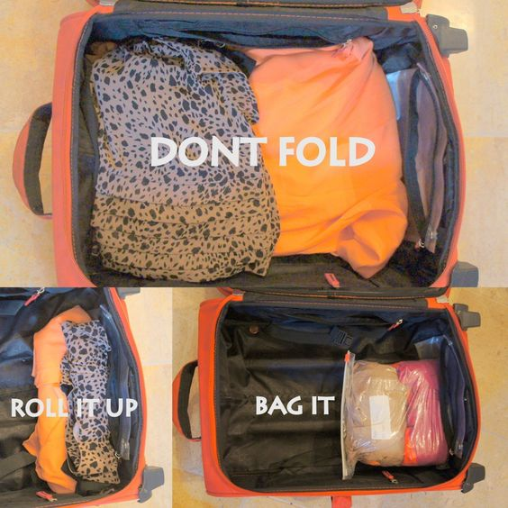 dont fold, bag it packing tips