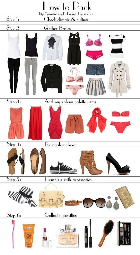 fashion packing tips