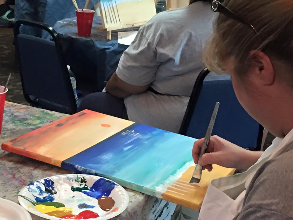 Celebrate Stress Awareness Month by Attending Plantation Resort's Paint and Unwined Art Class