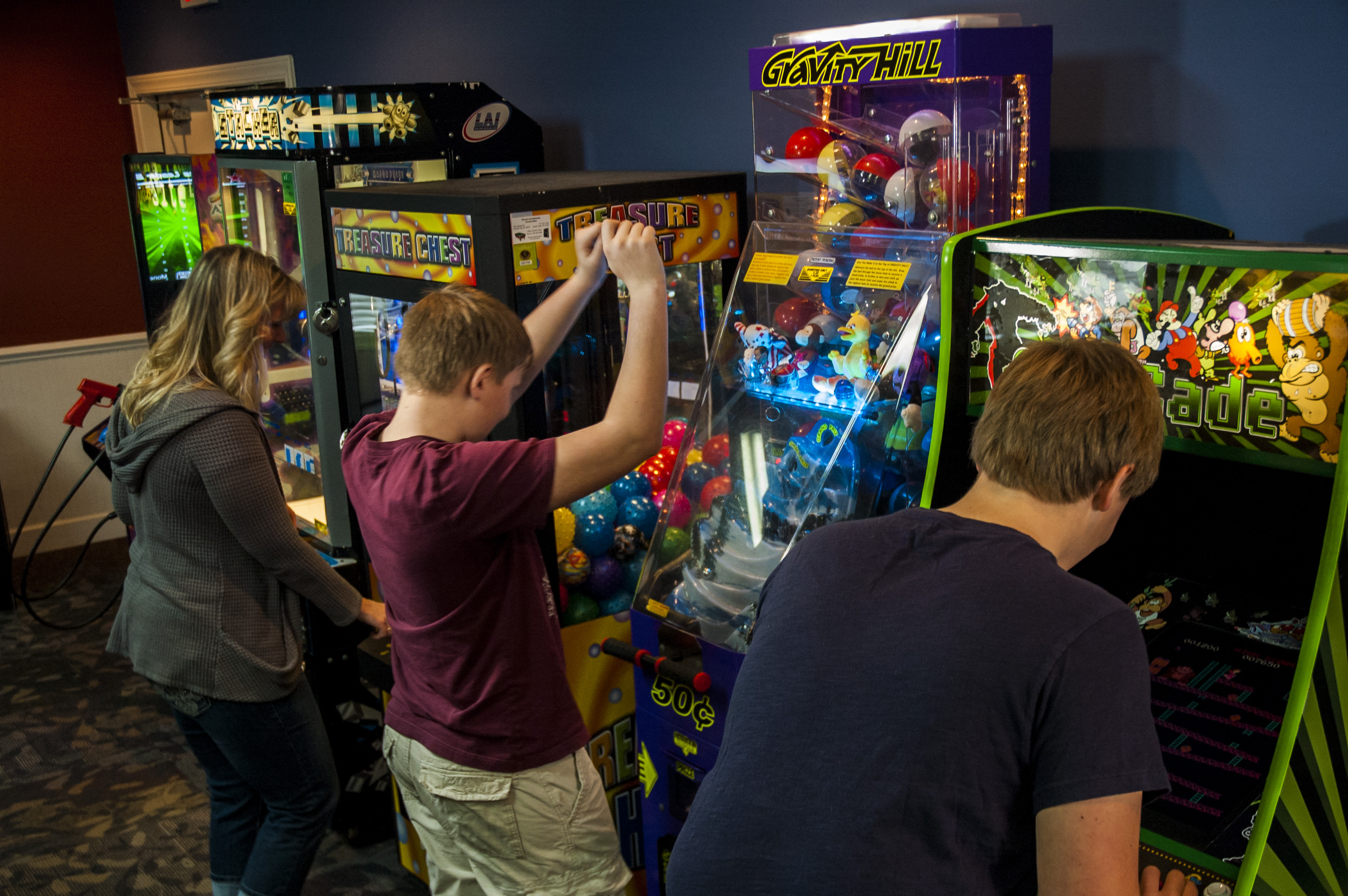 Playing in the Arcade at Plantation Resort during your Myrtle Beach Vacation!