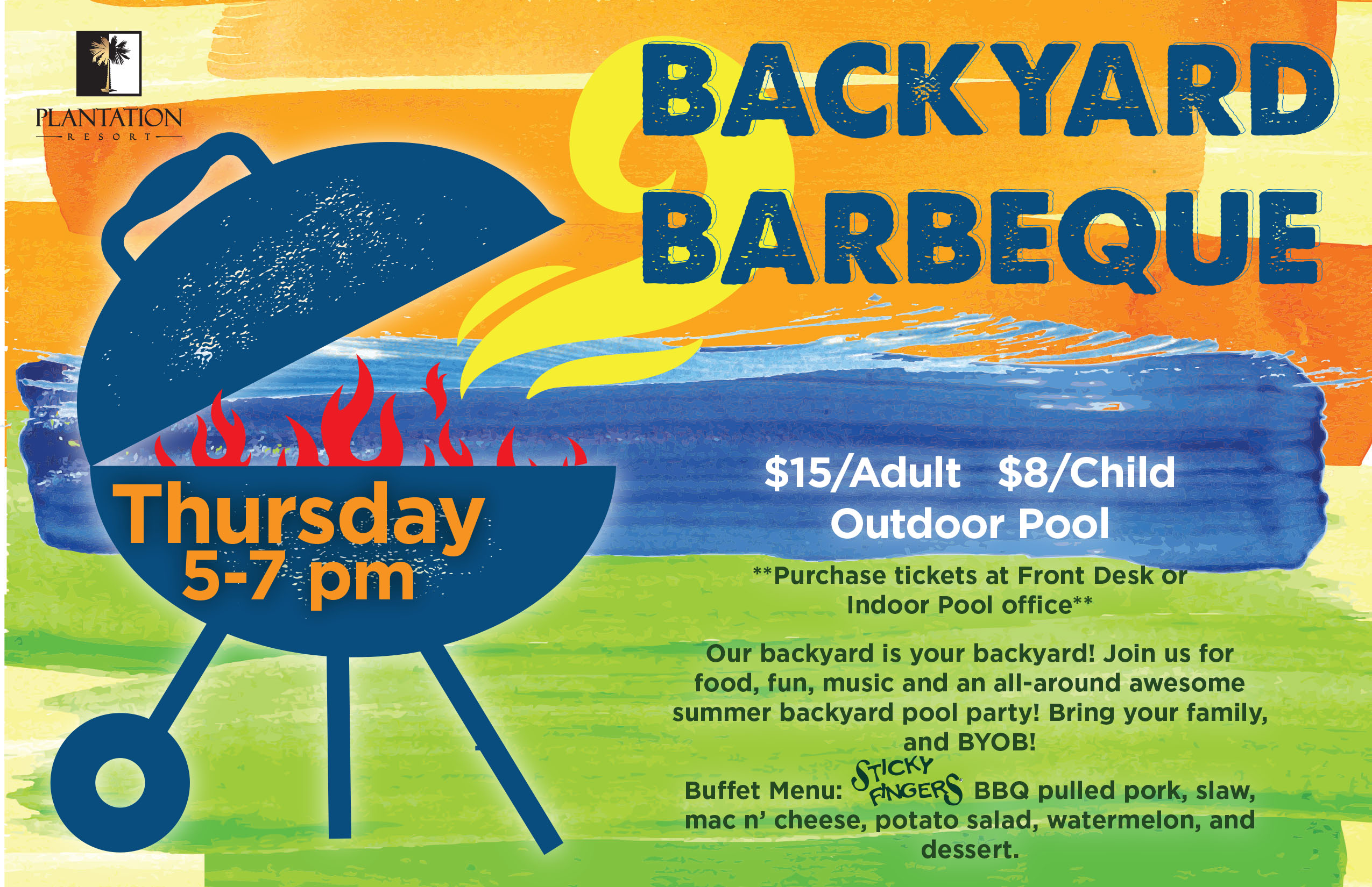 Taste Delicious BBQ at Plantation Resort's Backyard Barbeque while on Vacation in Myrtle Beach (August Events)