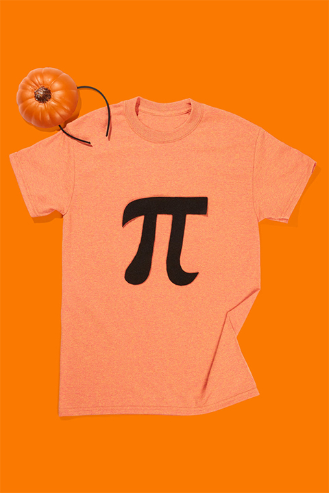 last minute Halloween costume: Pumpkin Pi costume for your Vacation at Plantation Resort in Myrtle Beach