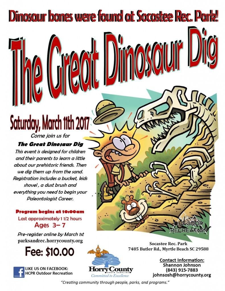 The Great Dinosaur Dig - Celebrate with these spring events while on Vacation at Plantation Resort in Myrtle Beach!
