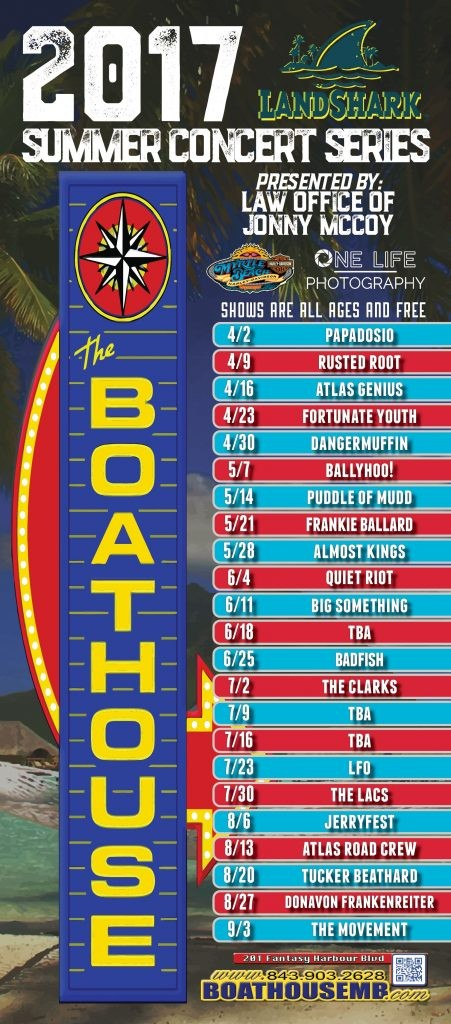 Enjoy the Boathouse's Summer Concert Series while on your Myrtle Beach vacation at Plantation Resort!