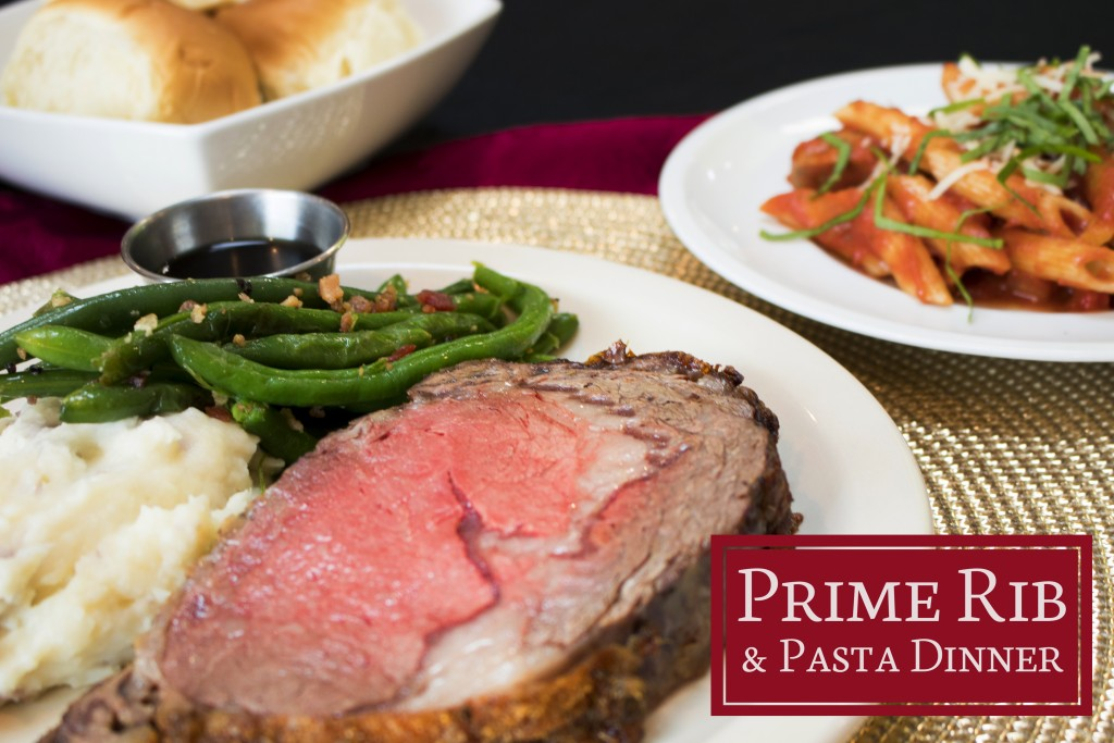 Enjoy our Prime Rib & Pasta Dinner while staying at Plantation Resort in Myrtle Beach.