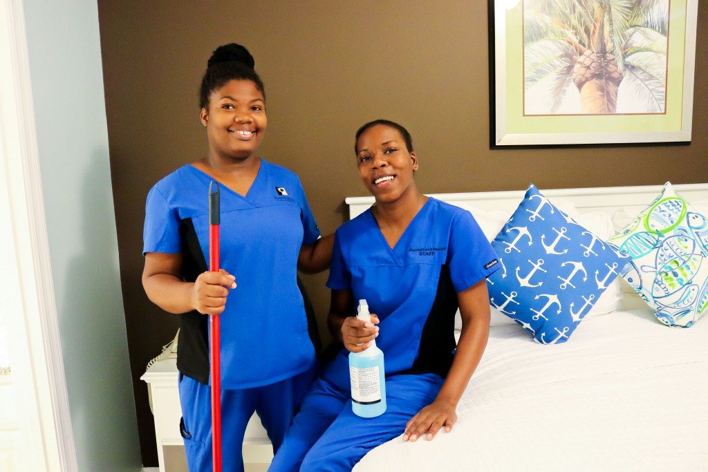 Plantation Resort housekeepers work hard to deliver a clean, comfortable Myrtle Beach vacation experience.