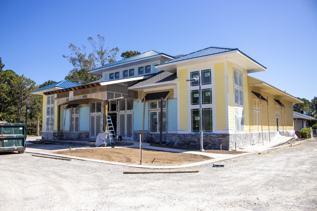 New front desk construction at Plantation Resort to welcome you on your next Myrtle Beach vacation.