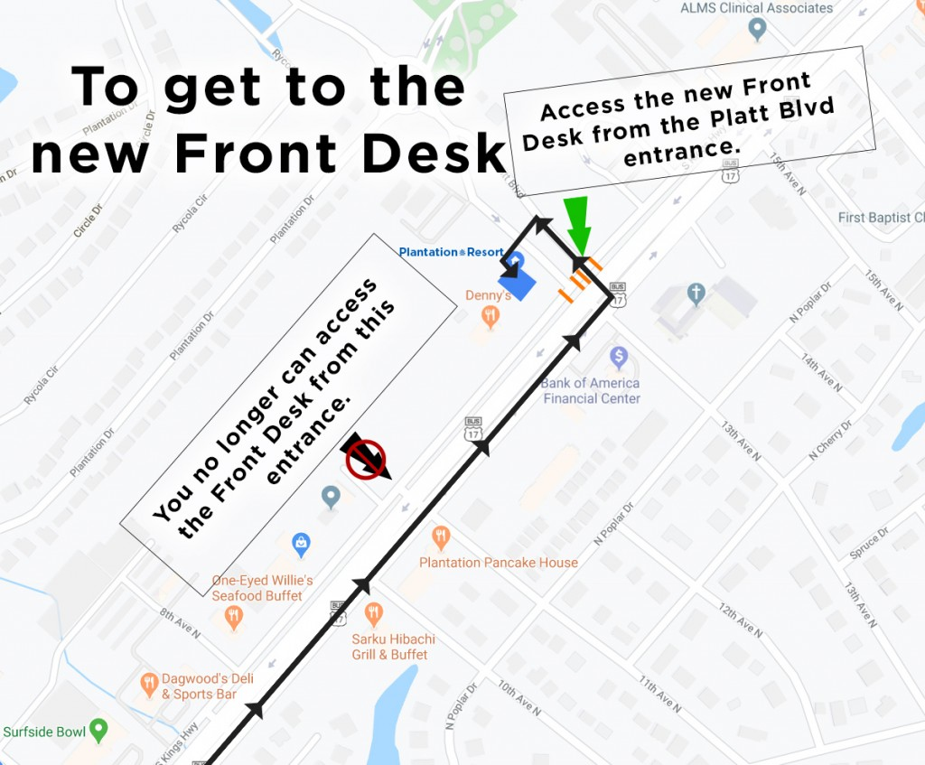 How to get to Front Desk2