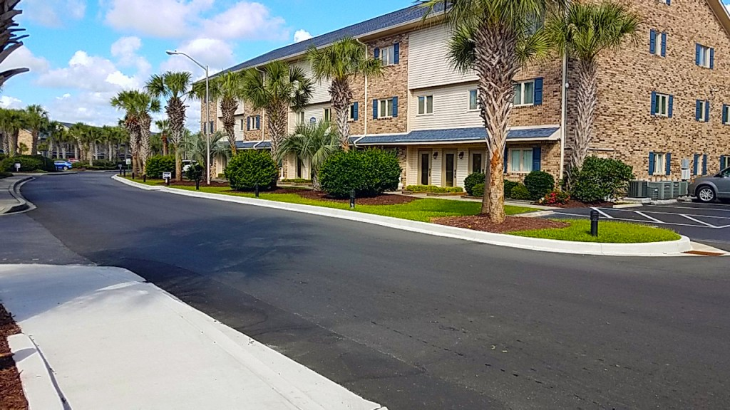 New Sidewalks and Curb and Gutter to enjoy on your Myrtle Beach Vacation at Plantation Resort